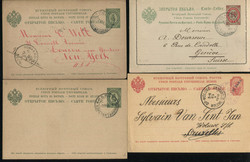5549: Russia Post in Levante - Covers bulk lot