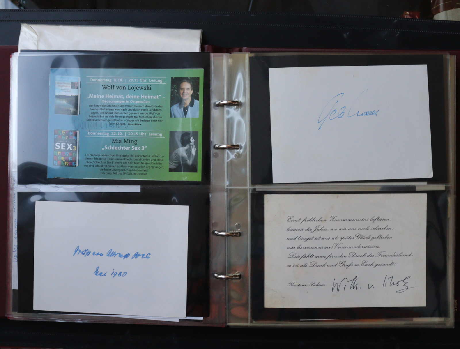 Lot 3175 - COLLECTIONS & ACCUMULATIONS autographs -  Auktionshaus Schlegel 26 Public Auction