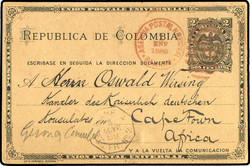 3930: Colombia - Postal stationery