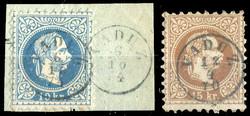 4175050: Austrian stamps used in Liechtenstein