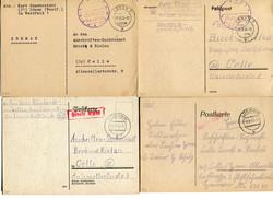 1291: Gebühr bezahlt, Belege 45-48, Notmaßnahmen - Briefe Posten