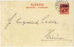 330: Deutsche Abstimmgeb. Schleswig - Privatganzsachen