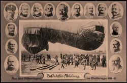 988510: Zeppelin, andere Luftschiffe, Postkarten