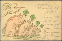 202016: Ansichtskarten, Glückwunsch, Schweine