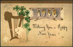 202022: Ansichtskarten, Glückwunsch, Jahreszahlen