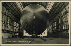 985080: Zeppelin, Zeppelin Postkarten, Luftschiffhäfen