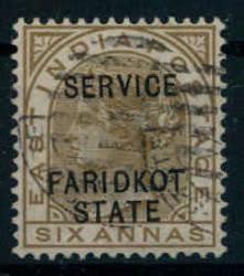 3130: Indien Staaten Faridkot - Dienstmarken