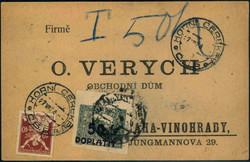 6335: Tschechoslowakei - Portomarken