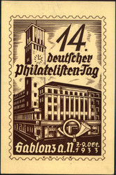 214030: Postgeschichte, Tag der Briefmarke, International bis 1945