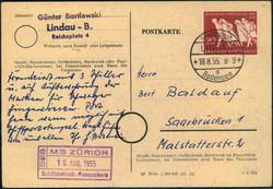 746030: Schifffahrt, Schiffspost, Bodensee Schiffspost