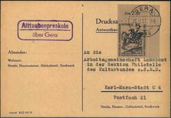 116500: Deutschland Ost, Plz Gebiet O-65, 650 Gera