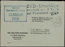 111100: Germany East, Zip Code O-11, 110-119 Berlin Vororte