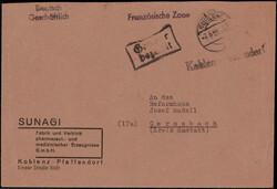 1330: Französische Rheinland Pfalz - Stempel