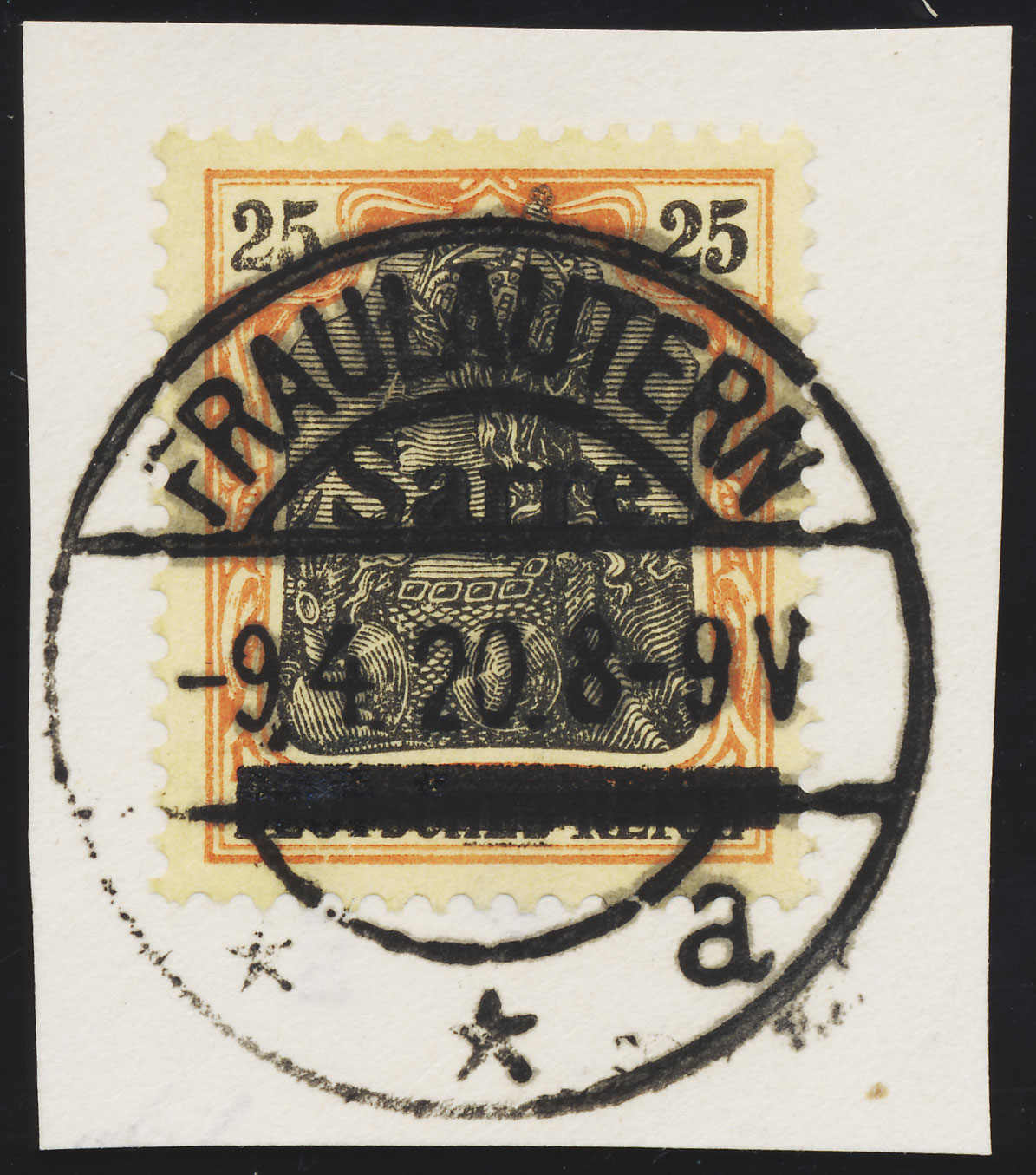 Hanseatische Briefmarkenauktionen OHG - Saar 1920-1935, Michel 9bIII