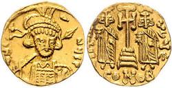 10.60.120: Ancient Coins - Byzantine Empire - Constantine IV Pogonatus, 668 - 685