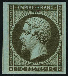 2565015: Frankreich Empire ungezähnt 1853