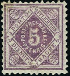 100: Altdeutschland Württemberg - Dienstmarken
