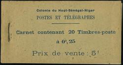 4730: Upper Senegal and Niger - Stamp booklets