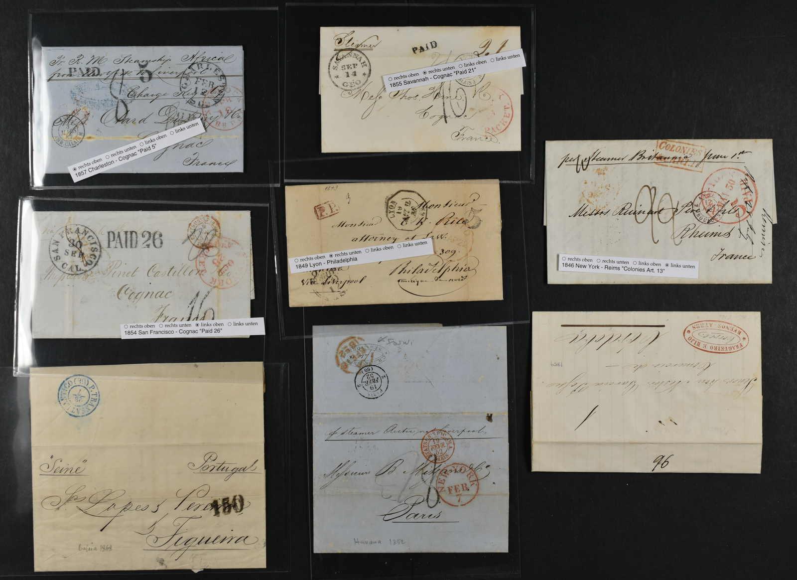 Lot 721 - sammlungen und posten sammlungen und posten amerika -  Schwarzenbach Auktion Zurich 67th Auction - Session II