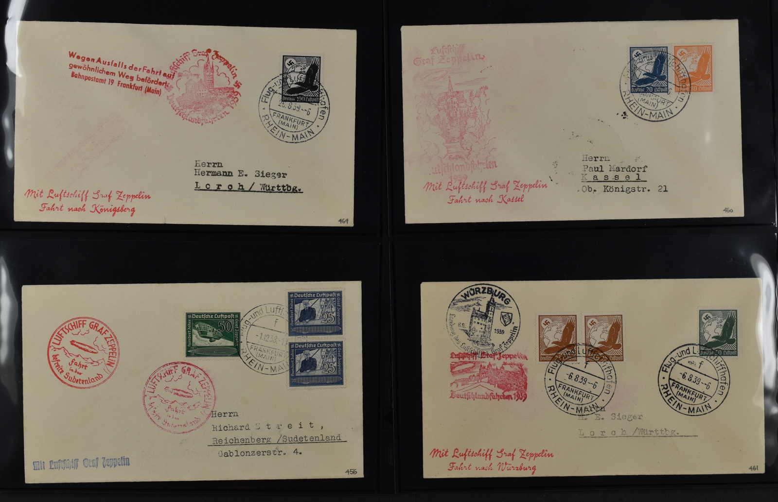 Lot 729 - sammlungen und posten sammlungen und posten zeppelin und luftpost -  Schwarzenbach Auktion Zurich 67th Auction - Session II