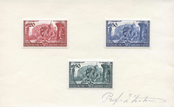 4175050: Austrian stamps used in Liechtenstein - Picture postcards