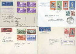 5659: Switzerland Airmail Issues - Covers bulk lot