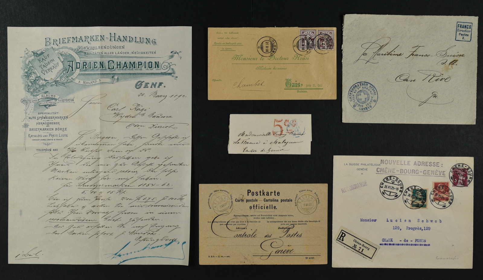 Lot 240 - schweiz kanton genf -  Schwarzenbach Auktion Zurich 67th Auction - Session II