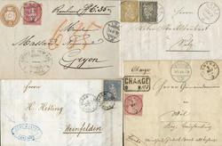 5655146: Schweiz Sitzende Helvetia gezähnt - Ganzsachen