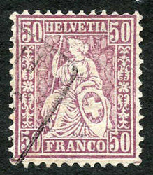 5655146: Switzerland sitting Helvetia perforated
