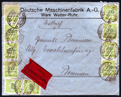 7999: German Empire, 1918/23 inflation issues - Covers bulk lot