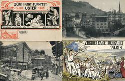 190260: Switzerland, Canton Zurich - Picture postcards
