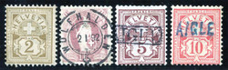 5655148: Suisse Timbre au chiffre - Cancellations and seals