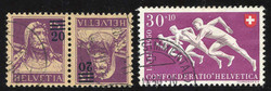 5657: Switzerland Pro Patria - Se-tenant prints