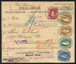 5655147: Switzerland standing Helvetia - Covers bulk lot