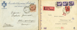 7161: Collections and Lots Italy and Areas - Covers bulk lot