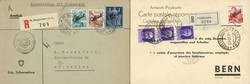 7242: Collections and Lots Switzerland Officals - Covers bulk lot