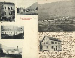 4175050: Austrian stamps used in Liechtenstein - Picture postcards