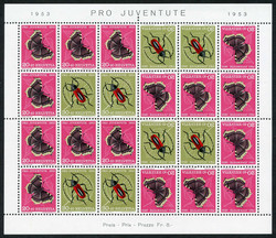 5656: Switzerland Pro Juventute - Souvenir / miniature sheetlets