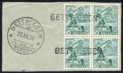 5655146: Switzerland sitting Helvetia perforated - Covers bulk lot