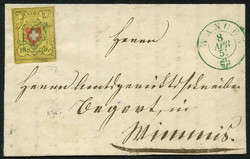 5655102: Rayon II, Yellow, without KE (STONE A 3) - Cancellations and seals