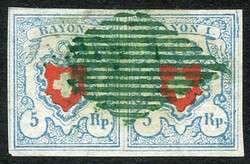 5655119: Rayon I, light-blue, without KE (STONE C2) - Cancellations and seals