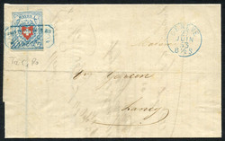 5655118: Rayon I, light-blue, without KE (STONE C1) - Cancellations and seals