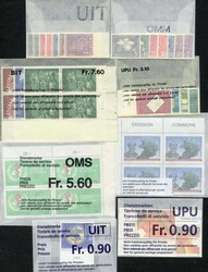 7242: Collections and Lots Switzerland Officals - Face value bulk lot