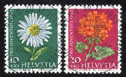 5656: Switzerland Pro Juventute - Cancellations and seals