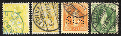 5655146: Switzerland sitting Helvetia perforated - Bulk lot
