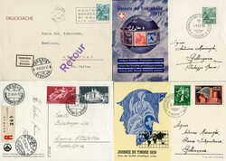 214040: Postal History, Stamp Day, International from 1945