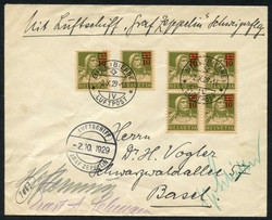 982562: Zeppelin, Zeppelin Mail LZ 127, Switzerland Flights
