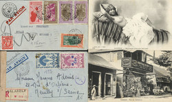 7128: Collections and Lots French Colonies - Picture postcards
