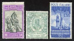 7161: Collections et post Italie avec zones - Bulk lot