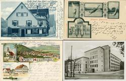 107000: Germany West, Zip Code W-69, 700-702 Stuttgart - Picture postcards